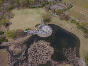 テクノパーク豊里ならではの広々とした公園です。