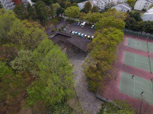 手代木公園のテニスコート