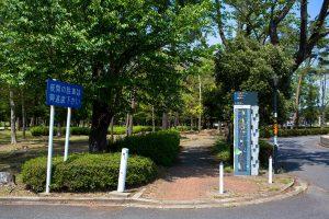 国道354号線沿いにある看板です。ここが公園通りの南端です。